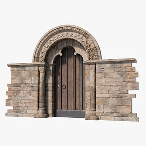 Church Doorway in Hampshire Gothic Architecture 3D model