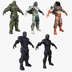 3D military characters - sci-fi model