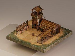 Archer Barracks Level 5 3D