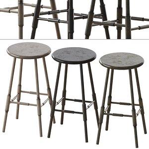 atlantic counter stool contemporary 3D