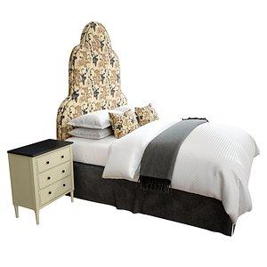 bed furniture furnishing model
