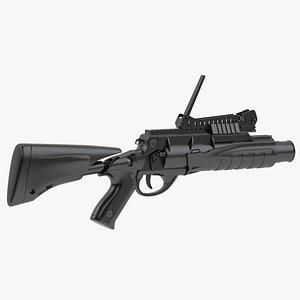 3D Beretta GLX 160 Grenade Launcher