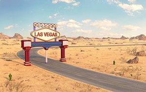 3D model Desert Road Las Vegas.