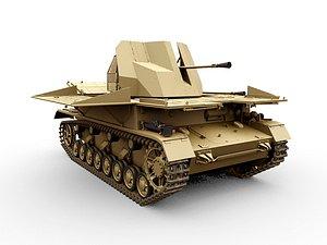flak iv panzer tank 3D model