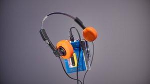3D model 90s walkman