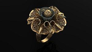 ring gold kast 3D model