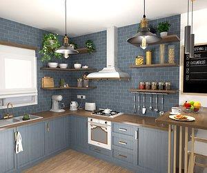 3D Cozy kitchen