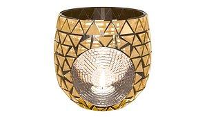 3D mosaic lantern glass model