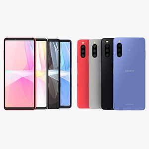 Sony Xperia 10 III All Colors 3D