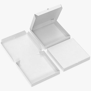 pizza boxes white paper 3D model