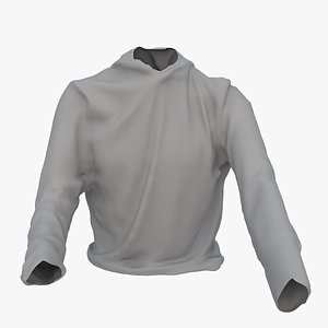 3D mesh hoody model