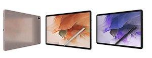 Samsung Galaxy Tab S7 FE All Colors 3D model