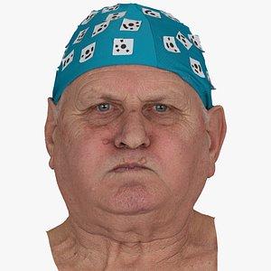 Homer Human Head Cheek Blow AU33 Raw Scan 3D model