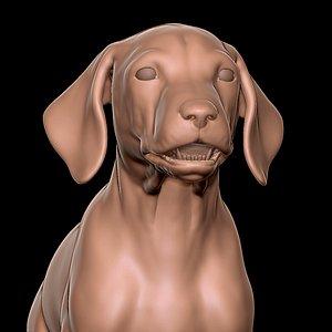3D Dalmatian Puppy Sculpt model