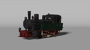 3D locomotive train vehicle