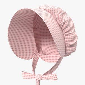 3D model Cotton Bonnet Pink