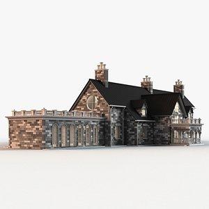 mansion building 3D model