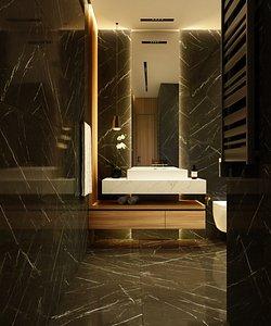 interior bath bathroom 3D model