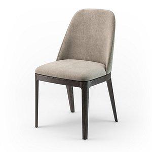 3D Bontempi Margot wood chair model