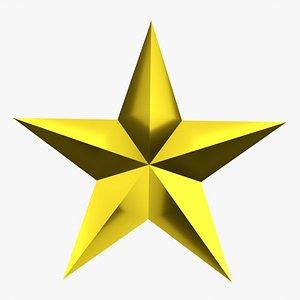 Christmas gold star 02 model