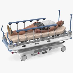 Emergency Transport Bed with Patient model