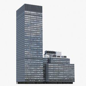 3D model JPMorgan Chase V2 Lowpoly