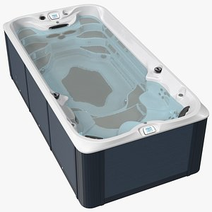 Spa Hot Tub with Water 3D model
