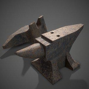 Rusty anvil pbr Low-poly 3D model