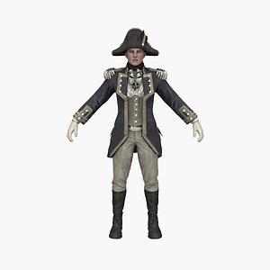 Female Commander 3D model