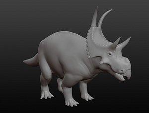 Diabloceratops base mesh 3D model