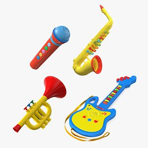 3D Musical Toy  Instruments Collection