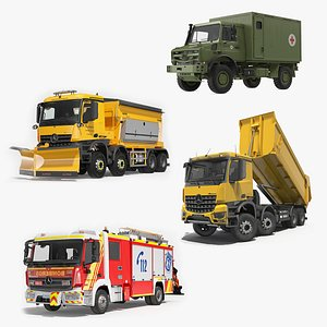 Mercedes Benz Trucks Rigged Collection 3D model