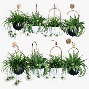 hanging planter boho 3D model