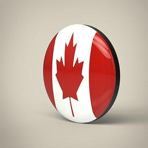 3D Canada Badge