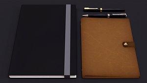 notebooks pens interior office model