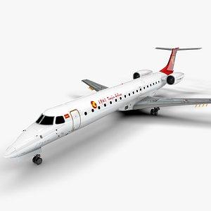 Tianjin Airlines EMBRAER ERJ 145 L1362 3D model