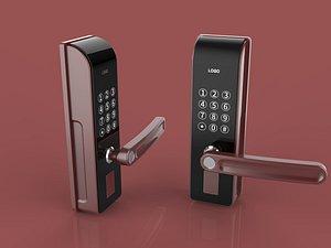 Smart fingerprint lock 3D