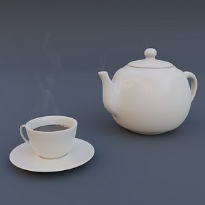 3D Teapot and cup