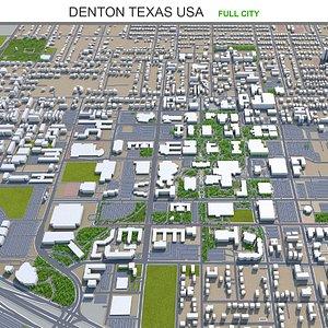 3D model Denton Texas USA