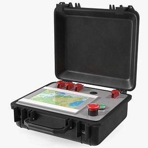 3D Open Nuclear Suitcase model