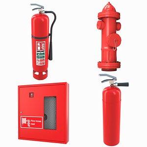 fighting hose extinguisher 3D model