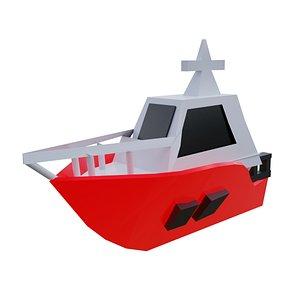 3D model Low Poly Boat