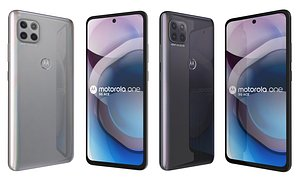 3D Motorola One 5G Ace Frosted Silver And Volcanic Gray model