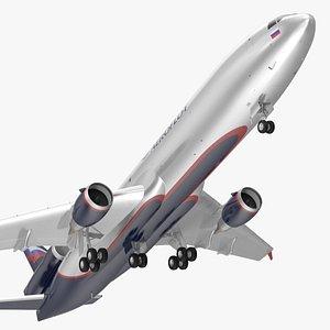 3D McDonnell Douglas MD11 Tri Jet Airliner Aeroflot Rigged