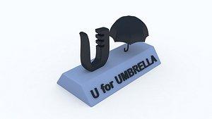 3D model umbrella learning printable
