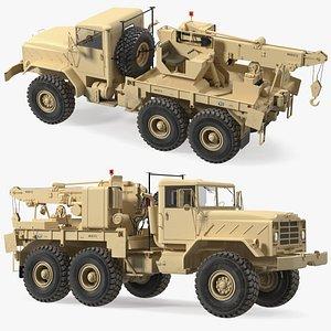 3D M939 Military Wrecker Light