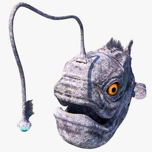 3D prehistory ugly fish monster