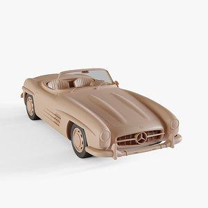 1957 Mercedes-Benz 300 SL Roadster 3D model
