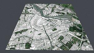 Cityscape Amsterdam Netherland 3D