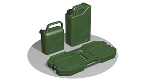 Three Army canisters V2 3D model